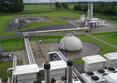 Biogas opwerkingsinstallatie